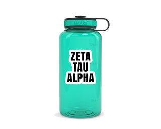 Zeta Tau Alpha Simple Wide Mouth Water Bottle