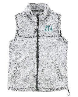 Zeta Tau Alpha Smoky Grey Sherpa Vest