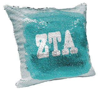 Zeta Tau Alpha Sorority Flip Sequin Throw Pillow Cover
