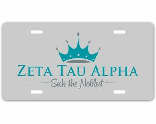 Zeta Tau Alpha Sorority Logo License Cover