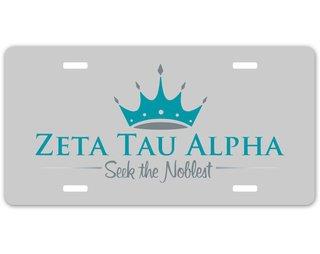 Zeta Tau Alpha Sorority Logo License Cover