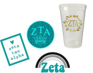 Zeta Tau Alpha Sorority Large Pack $15.00
