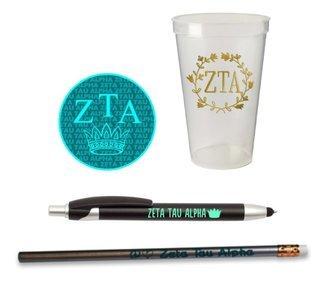 Zeta Tau Alpha Sorority Mascot Set $8.99
