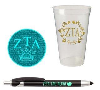 Zeta Tau Alpha Sorority Medium Pack $7.50