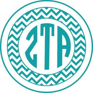 Zeta Tau Alpha Sorority Monogram Bumper Sticker