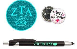 Zeta Tau Alpha Sorority Pack $5.99