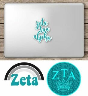 Zeta Tau Alpha Sorority Sticker Collection - SAVE!