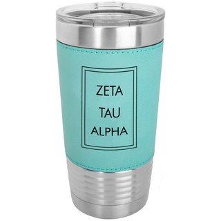 Zeta Tau Alpha Sorority Leatherette Polar Camel Tumbler