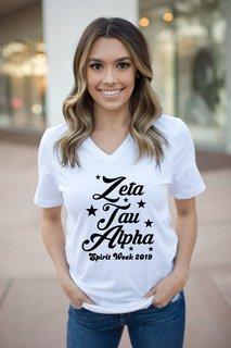 Zeta Tau Alpha Spirit Stars V-Neck