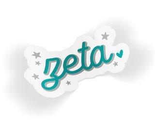 Zeta Tau Alpha Star Sticker