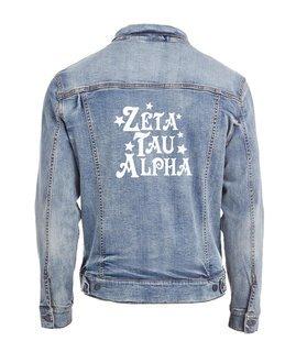 Zeta Tau Alpha Star Struck Denim Jacket