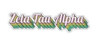 Zeta Tau Alpha Step Decal Sticker