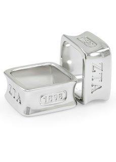 Zeta Tau Alpha Sterling Silver Square Ring