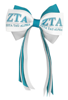 Zeta Tau Alpha Streamer Bow