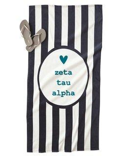 Zeta Tau Alpha Striped Beach Towel
