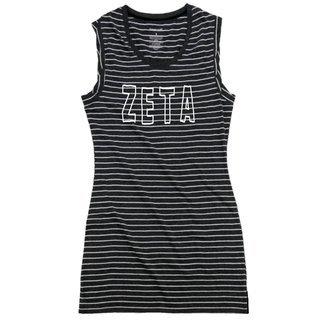 Zeta Tau Alpha Striped Tee Dress