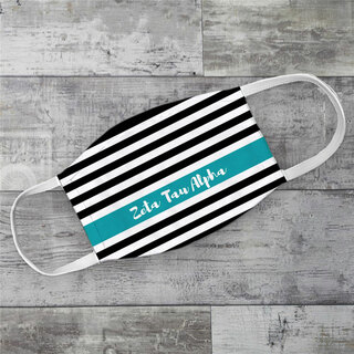 Zeta Tau Alpha Stripes Face Mask