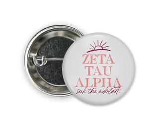 Zeta Tau Alpha Sun Button