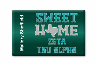 Zeta Tau Alpha Sweet Home Ceramic Magnet