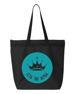 Zeta Tau Alpha Symbol Circle Mascot Tote Bag