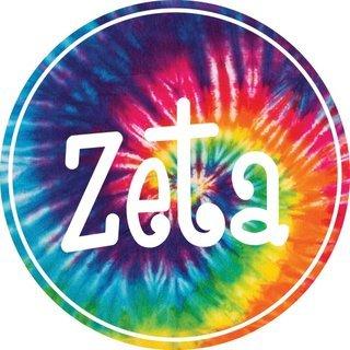 Zeta Tau Alpha Tie-Dye Circle Sticker