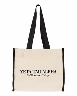 Zeta Tau Alpha Tote with Contrast-Color Handles