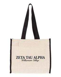 Zeta Tau Alpha Tote with Contrast-Color Handles