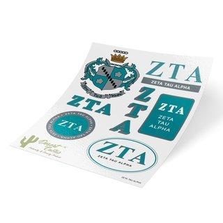 Zeta Tau Alpha Traditional Sticker Sheet