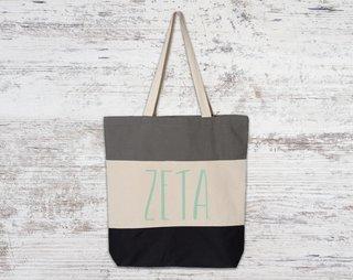 Zeta Tau Alpha Tri Color Tote Bag