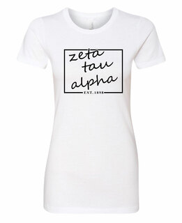 Zeta Tau Alpha Triblend Short Sleeve Box T-Shirt