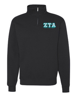 Zeta Tau Alpha Twill Greek Lettered Quarter zip