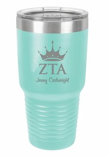 Zeta Tau Alpha Vacuum Insulated Mascot Tumbler
