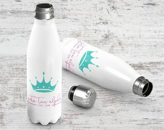 Zeta Tau Alpha Established Stainless Steel Water Bottle