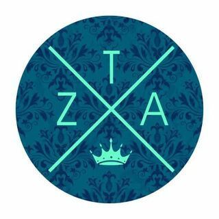 Zeta Tau Alpha Well Balanced Round Decals