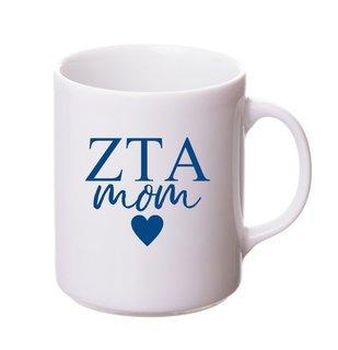 Zeta Tau Alpha White Personalized Coffee Mug