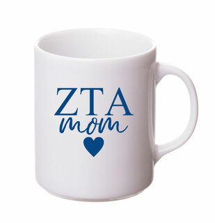 Zeta Tau Alpha White Personalized Coffee Mug