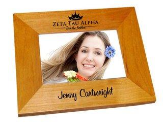 Zeta Tau Alpha Mascot Wood Picture Frame