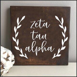 Zeta Tau Alpha Wooden Wall Art