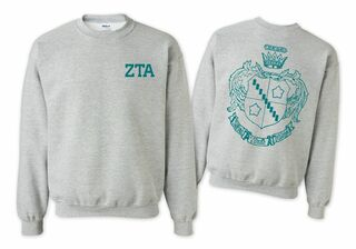 Zeta Tau Alpha World Famous Crest - Shield Crewneck Sweatshirt- $25!