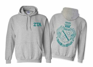 Zeta Tau Alpha World Famous Crest Hooded Sweatshirt- $35!