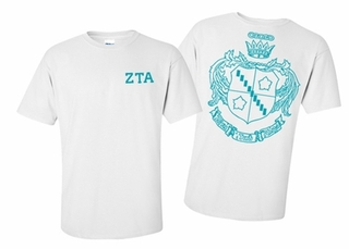 Zeta Tau Alpha World Famous Greek Crest T-Shirts - MADE FAST!