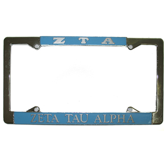 Zeta Tau Alpha ZTA License Plate Frame
