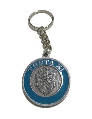 Theta Xi Metal Fraternity Key Chain