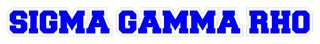 Sigma Gamma Rho Long Window Sticker