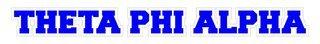 Theta Phi Alpha Long Window Sticker