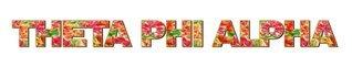 "Theta Phi Alpha Floral Long Window Sticker - 15"" long"