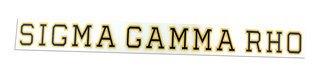 Sigma Gamma Rho Long Window Decals Stickers