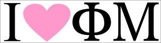 Phi Mu I Love Bumper Sticker