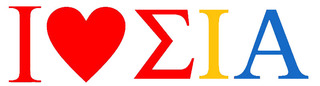Sigma Iota Alpha I Love Bumper Sticker