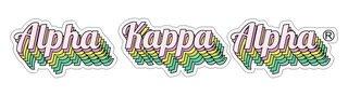 Alpha Kappa Alpha Step Decal Sticker